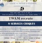 Affiche recrutement service civique