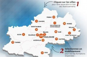 Cartographie de l'offre de formation dans l'académie de Toulouse